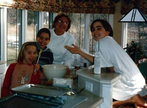 Casey's family Christmas cookie day throwback