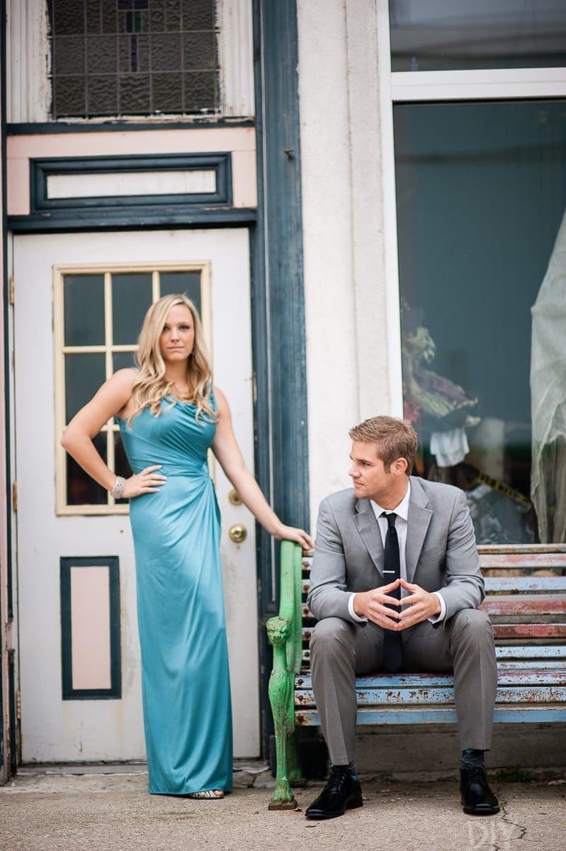 Glamorous engagement photos