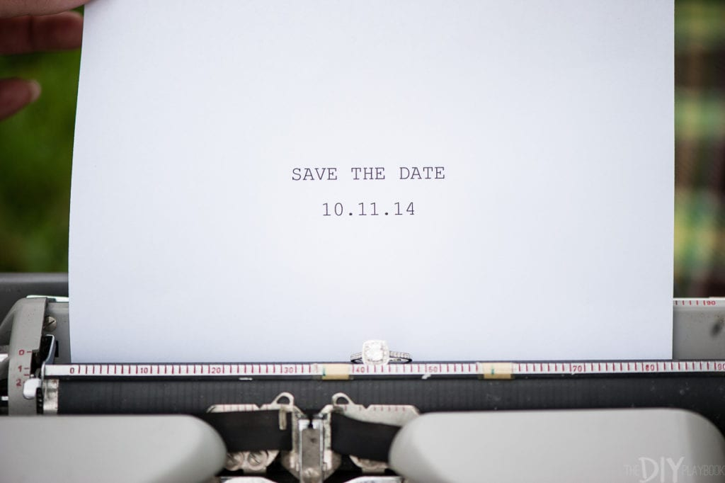 Save the Date on a typewriter