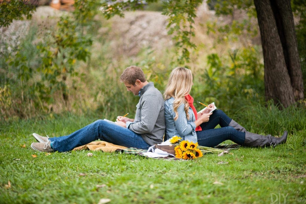 Writing love letters for an engagement photo session