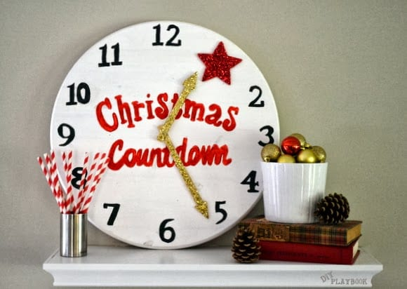 This fun Christmas countdown clock is a great Christmas decoration.