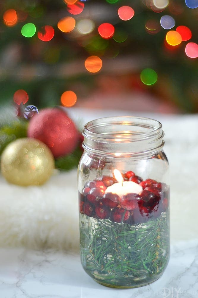 How to make a mason jar christmas candle holder the diy