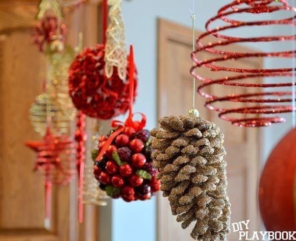 Floating christmas ornaments diy playbook