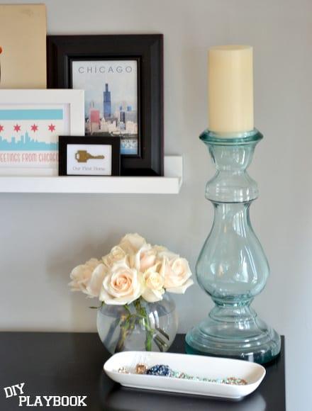 roses on a dresser