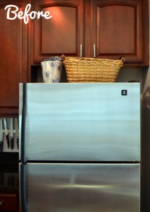Styling decorating above the fridge tips tricks diy for Area above kitchen cabinets called