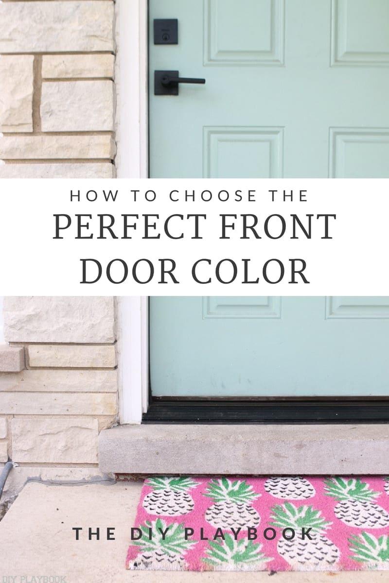Choosing the perfect front door color