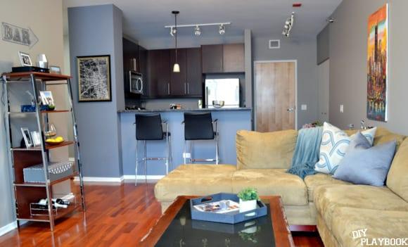 Family room and kitchen condo