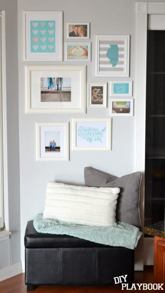 White Frame gallery wall