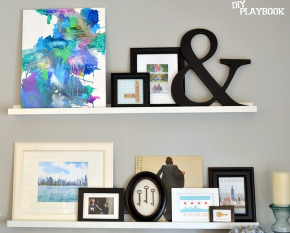 abstract art on gallery wall