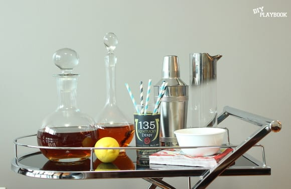 These chic decanters add character to the bar cart.