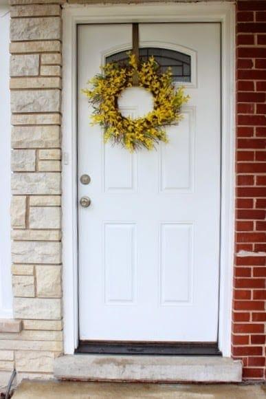 Bridget's front door- before