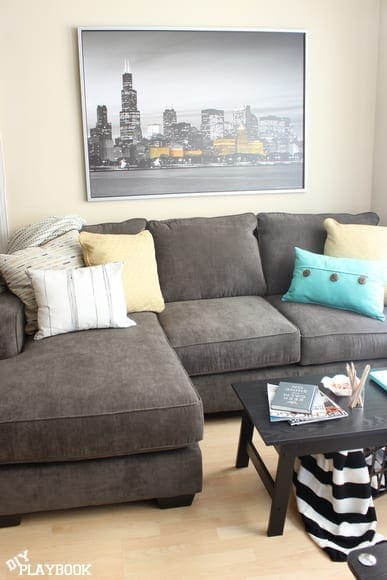Bright city space diy playbook for Fun living room furniture