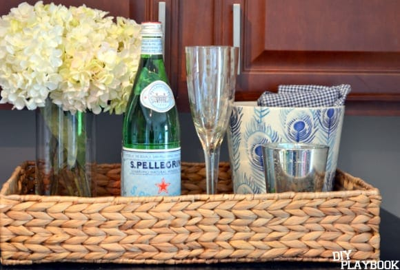 wicker tray from HomeGoods