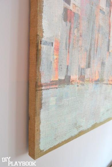 Closeup of Canvas