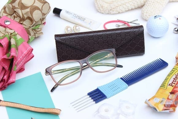 Keeping extra eyeglasses in your handbag