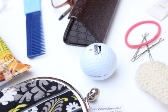 Extra golf balls in your handbag