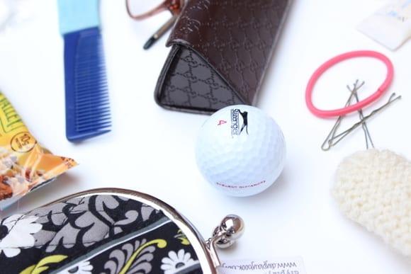 Extra golf balls in your handbag