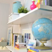 Collected items make great groupings for shelves.