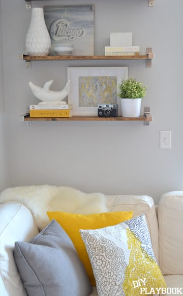 Styled Ikea Bookshelves