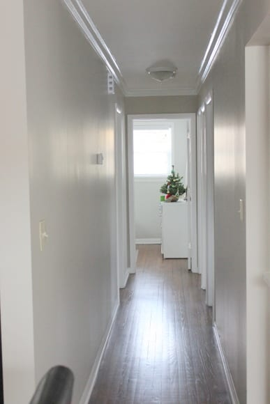 This long plain hallways needed a little something to liven it up