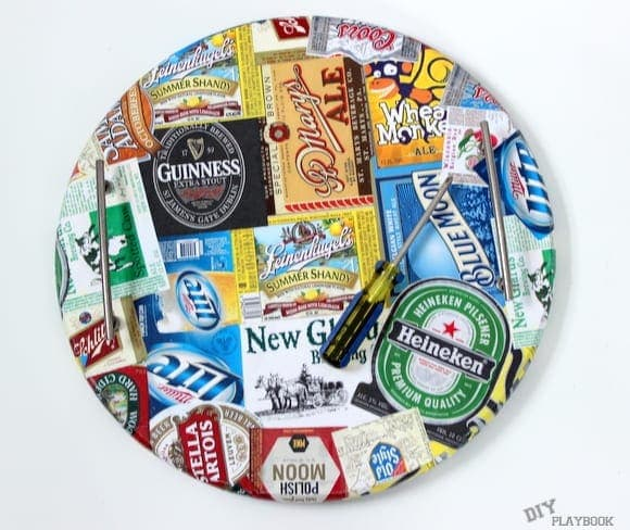 This customized beer tray is a great Father's Day gift for dad.