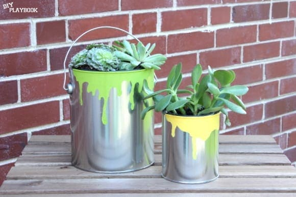These rustic paint can planners are a fun Father's Day gift idea.