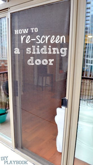 How to re screen a sliding door step by step tutorial for New sliding screen door