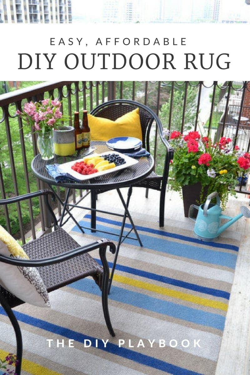 How to Paint This DIY Outdoor Rug in Three Easy Steps | DIY Playbook