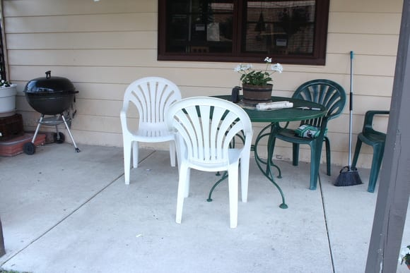 This outdoor patio is in desperate need of a makeover.
