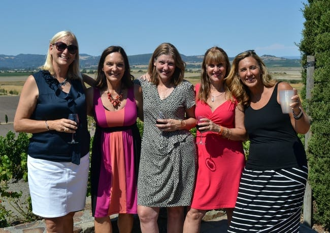 Enjoying wine country for bachelorette party