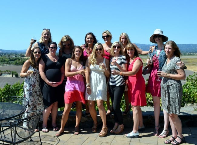 Bachelorette party in Sonoma, CA