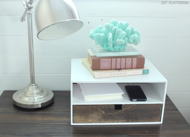 Bedside charging station diy playbook Diy cell phone charging station