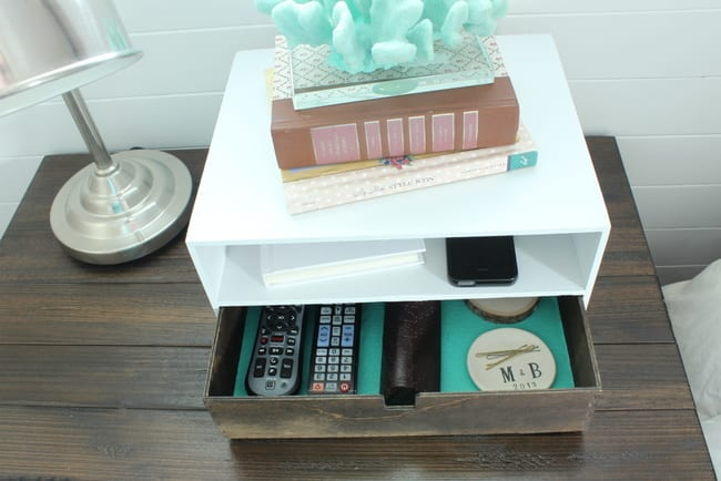 bottom drawer: DIY Bedside Charging Station Tutorial | DIY Playbook