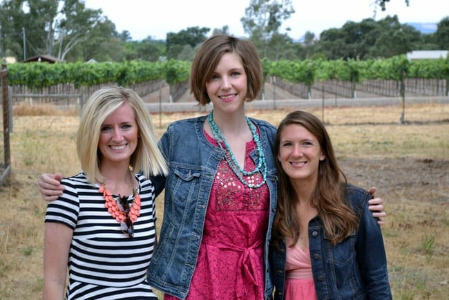 Bachelorette party in Sonoma