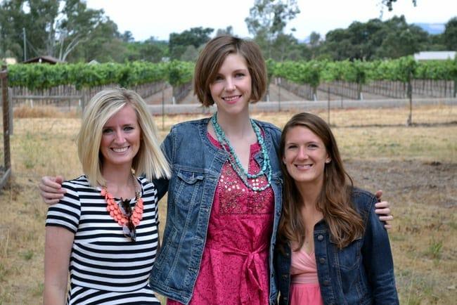 Bachelorette party in Sonoma