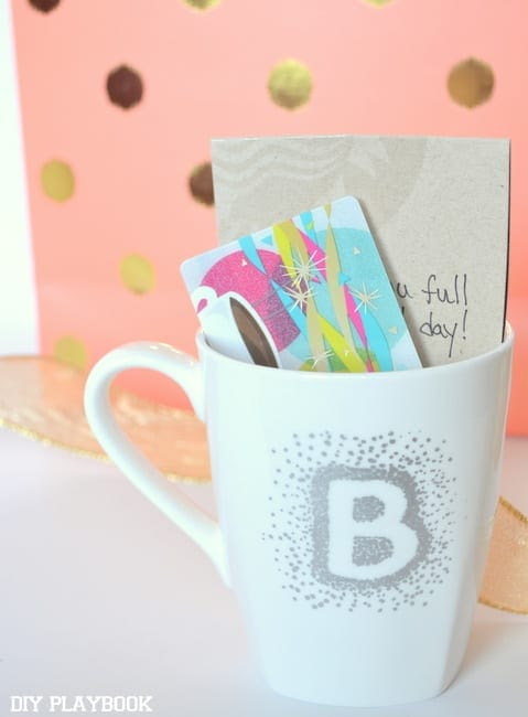 Look at this cute mug filled with appreciation for your bridesmaid's help!