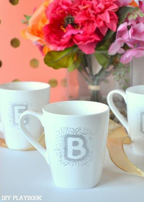 how to make DIY bridesmaid mugs