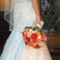Casey's gorgeous orange bouquet