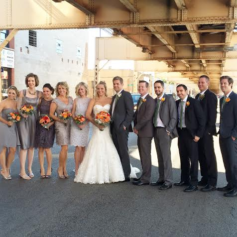 Casey and Finn's wedding party