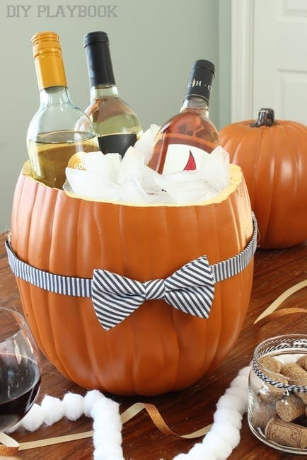How to Create a Pumpkin Cooler for your Halloween Party