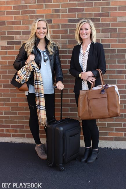 Bridget and Casey are ready for a post-wedding girls trip