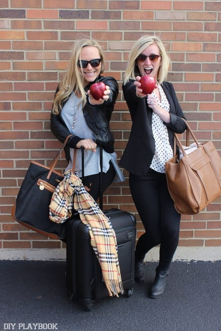 Bridget and Casey are ready for a quick trip to the Big Apple!