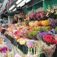 This NYC flower market is colorful.