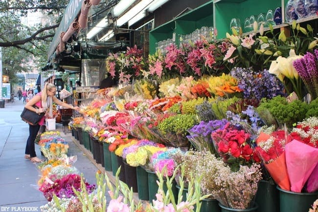 Flower markets in NYC are colorful and unique.