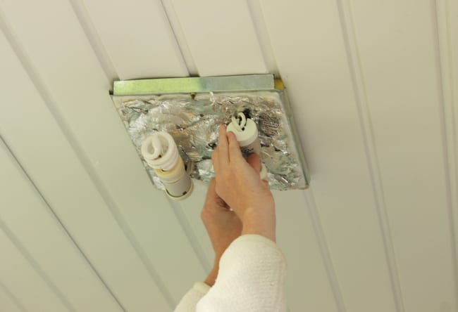 Changing Cree lightbulbs on front porch light