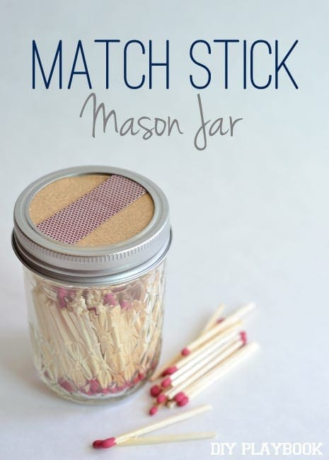 Match Stick Mason Jar Easy DIY Project Tutorial  | DIY Playbook