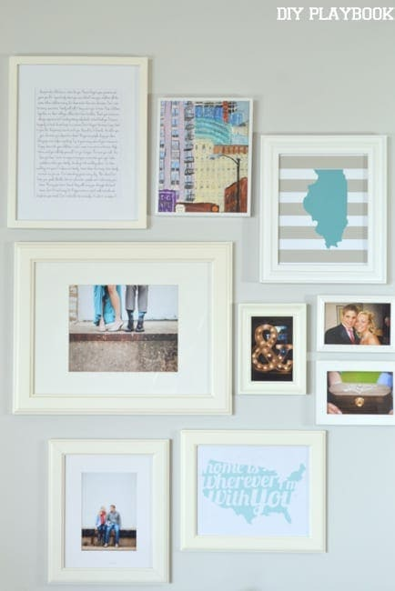 white frames gallery wall - White Wall Frames