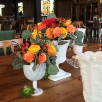 Beautiful centerpieces from Casey's wedding