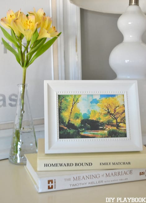 Framed watercolor print of a Central Park scene