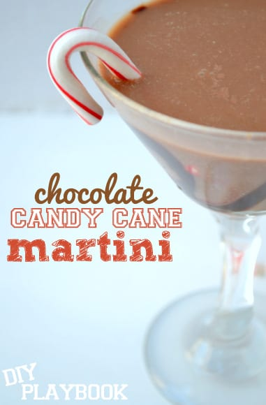 These chocolate candy cane martinis are a sweet festive treat!